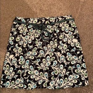 Loft Green and Blue Skirt Size 10 Petite
